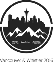 Vancouver & Whistler 2016 Logo Graphic Design