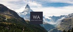 WA Destinations logo graphic design